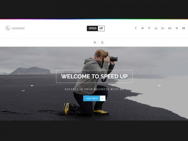Speedup - WordPress Theme for Your Business Profile